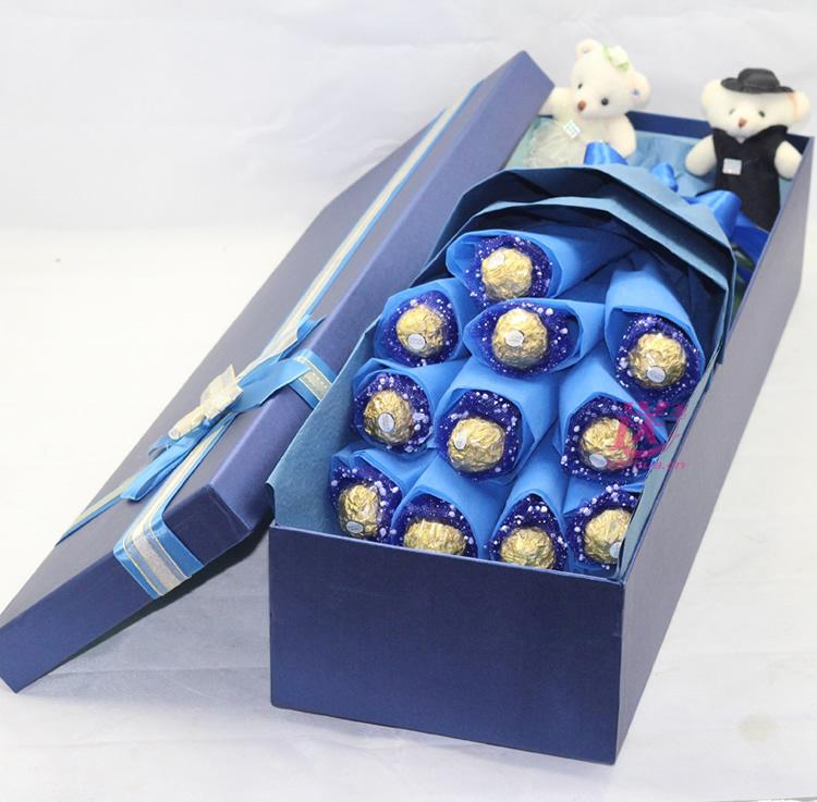 爱到底—快送鲜花网 送费列罗巧克力 情人节送巧克力 网上买巧克力花束 异地送巧克力