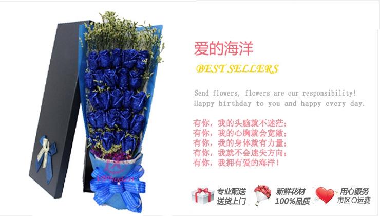 爱的海洋—快送鲜花网|石家庄鲜花|全国订花网|鲜花预订|网上如何购买节日鲜花