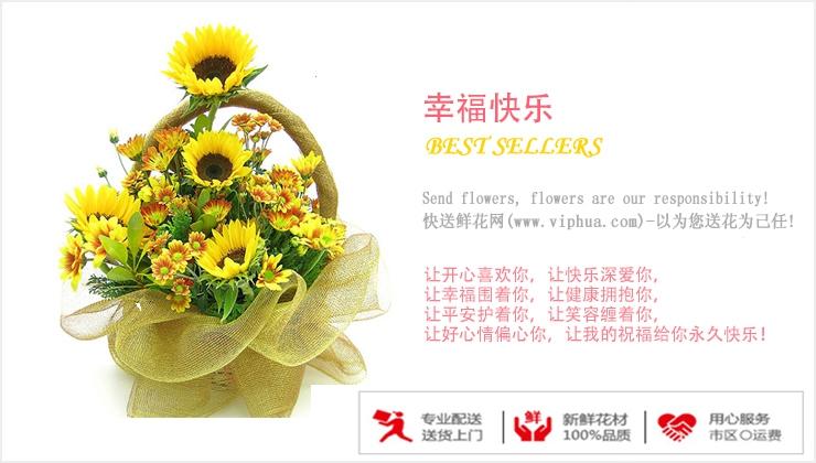 幸福快乐—快送鲜花网|鲜花花篮|花篮订购|异地送花篮|慰问花篮|网上送鲜花花篮