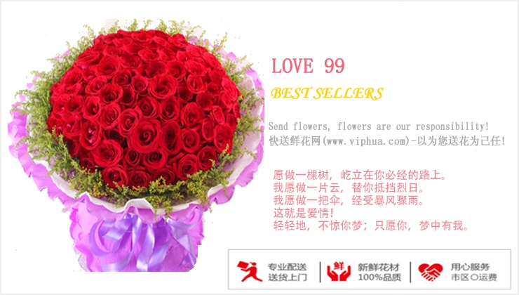 LOVE99—快送鲜花网 北京鲜花速递 异地订花 上海快递鲜花 网上订鲜花 七夕鲜花订购