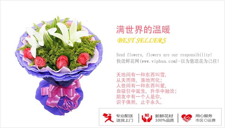 满世界的温暖—快送鲜花网|电话订花|订花网站|异地订花|株洲市订花网站推荐