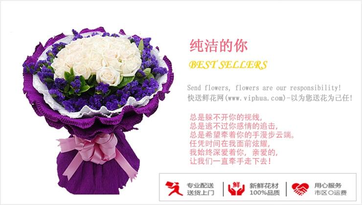纯洁如你—快送鲜花网|北京海淀区花店|鲜花预定|订购鲜花|网上鲜花预定
