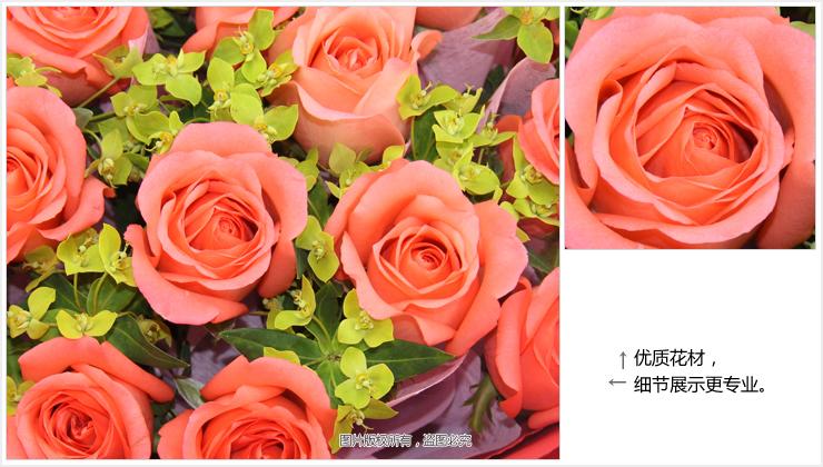 咫尺天涯—快送鲜花网 鲜花快递公司 网络花店 网上定玫瑰花 异地送花 鲜花预定