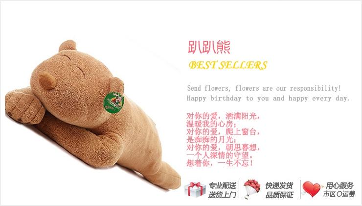 趴趴熊—快送鲜花网|卡通枕头|毛绒玩具|情人节礼品|网上订购情人节礼物网站