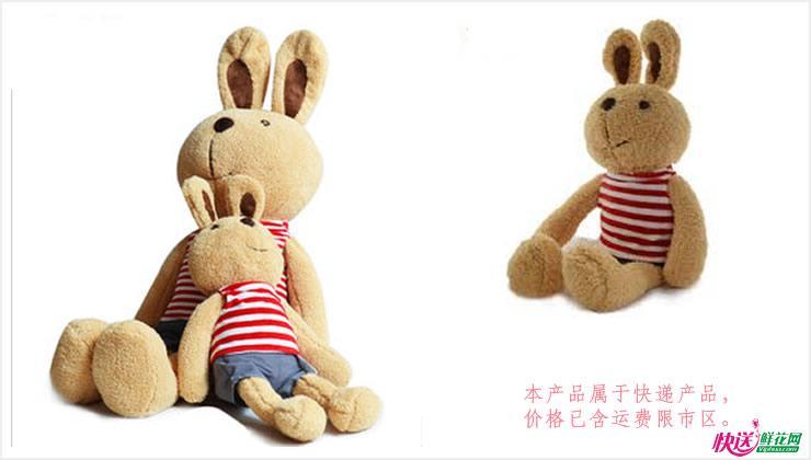 糖糖兔—快送鲜花网 毛绒玩具 玩具熊 卡通玩偶 送女友娃娃 毛绒娃娃