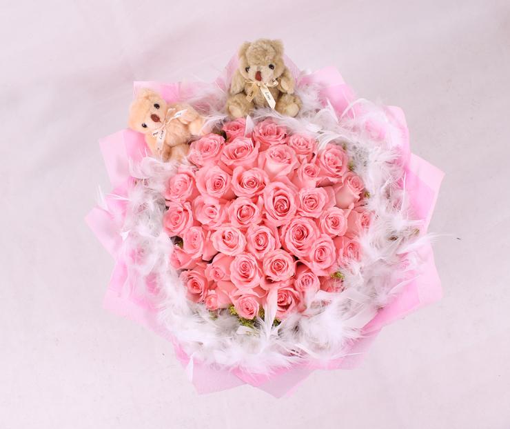 夏日蜜恋——快送鲜花网 圣诞节玫瑰花 鲜花订购 鲜花快捷 圣诞节送花